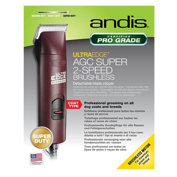 Сетевая машинка для стрижки животных Andis AGCB Super 2-Speed Brushless Burgundy 25000