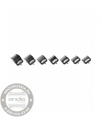 Набор магнитных насадок Andis BG Series Premium Metal Clip 7-Comb Set 33640