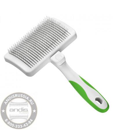 Пуходерка с кнопкой самоочистки Andis Self-Cleaning Slicker Brush 40160