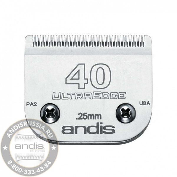 Ножевой блок окантовочный Andis UltraEdge 40 0,25 мм 64084