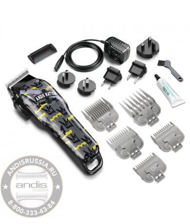 Аккумуляторно-сетевая машинка для стрижки волос Andis Cordless Uspro Li Fade Nation Crown 73100