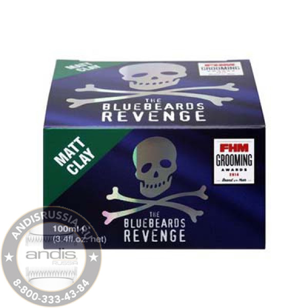 Матовая глина для укладки волос The Bluebeards Revenge Matt Clay 100 мл BBRCLAY100