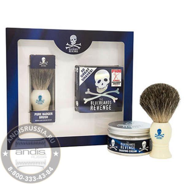 Подарочный набор Помазок и Крем для бритья The Bluebeards Revenge BBRSCBGK
