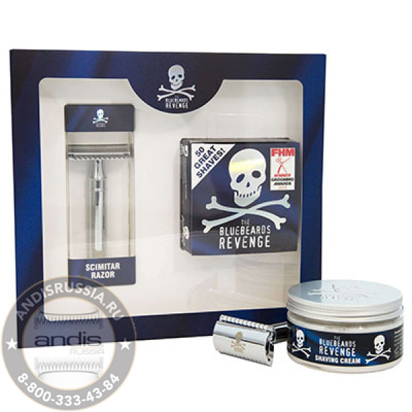 Подарочный набор Крем для бритья и станок The Bluebeards Revenge BBRSCSCIMK