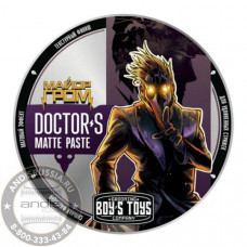 Паста для укладки волос сильной фиксации с низким уровнем блеска Boy's Toys Doctor's Matte Paste 100 мл BT316