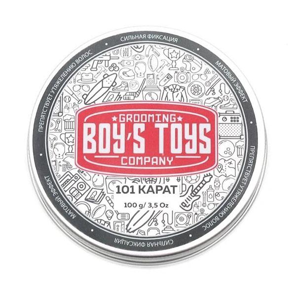 Паста для укладки волос высокой фиксации с низким уровнем блеска Boy's Toys 101 карат 100 мл BT606