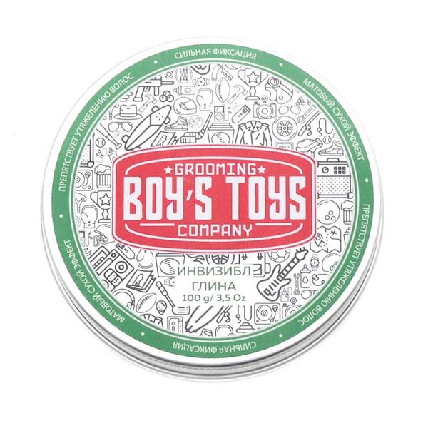 Глина для укладки волос средней фиксации с низким уровнем блеска Boy's Toys Инвизибл 100 мл BT613