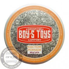 Помада для укладки волос сильной фиксации со средним уровнем блеска Boy's Toys Кастом Pomade 40 мл BT620