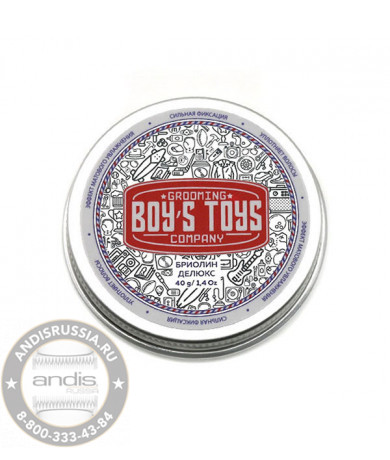 Бриолин для укладки волос сврех сильной фиксации со средним уровнем блеска Boy's Toys Deluxe 100 мл BT644