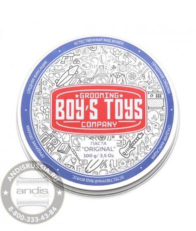 Паста для укладки волос средней фиксации с низким уровнем блеска Boy's Toys Original 40 мл BT675
