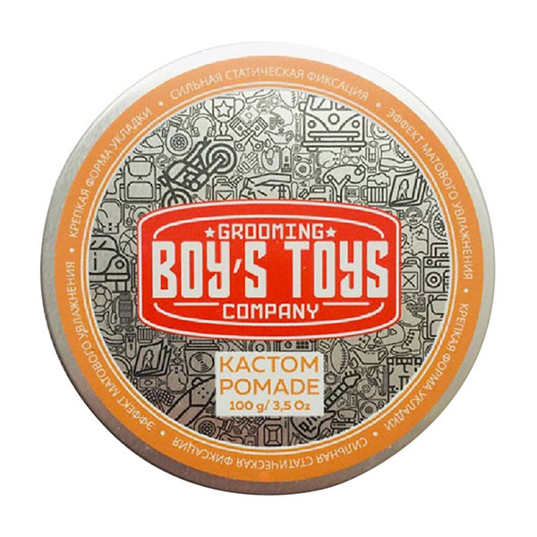 Помада для укладки волос сильной фиксации со средним уровнем блеска Boy's Toys Кастом Pomade 100 мл BT705