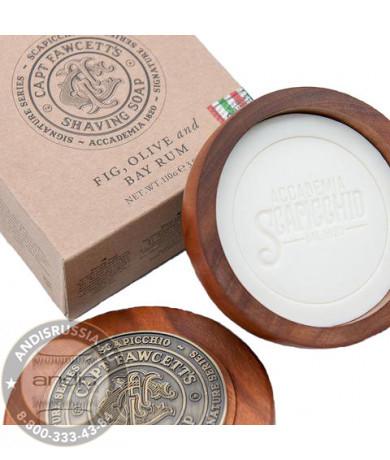 Мыло для бритья Captain Fawcett Scapicchio Fig Olive & Bay Rum Shaving Soap 110 гр CF5553