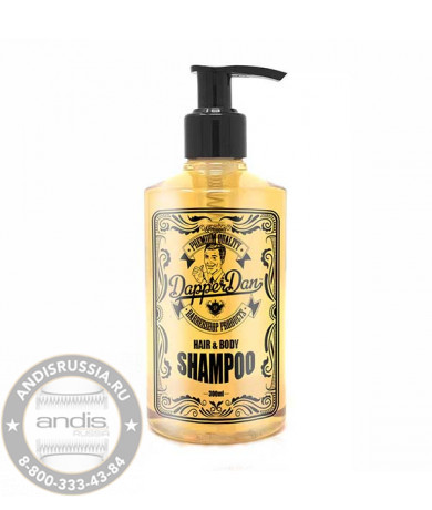 Шампунь и гель для душа Dapper Hair & Body Shampoo 300 мл DDSHMP300