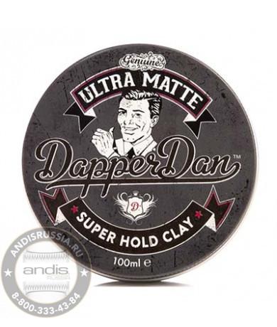 Ультра-матовая глина для укладки волос Dapper Dan Ultra Matte Super Hold Clay 100 мл DDUMCLAY