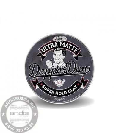Ультра-матовая глина для укладки волос Dapper Dan Ultra Matte Super Hold Clay 50 мл DDUMCLAY50