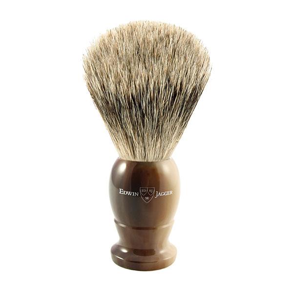 Помазок для бритья темно-коричневый барсучий ворс Edwin Jagger 9EJ872