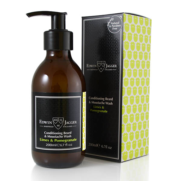 Шампунь для бороды и усов Edwin Jagger Conditioning Beard & Moustache Wash Limes & Pomegranate 200 мл BWLP
