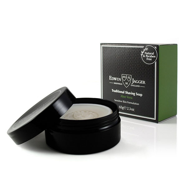 Мыло для бритья Edwin Jagger Shaving Soap Travel Container Aloe Vera Алоэ Вера 65 гр SSAVT