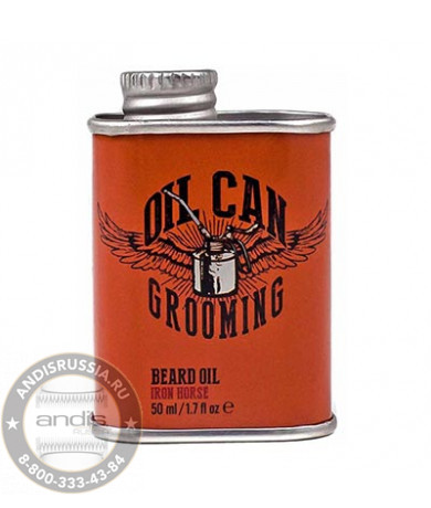 Масло для бороды с ароматом кожи и дикой малины Oil Can Grooming Iron Horse Beard Oil 50 мл OCG1
