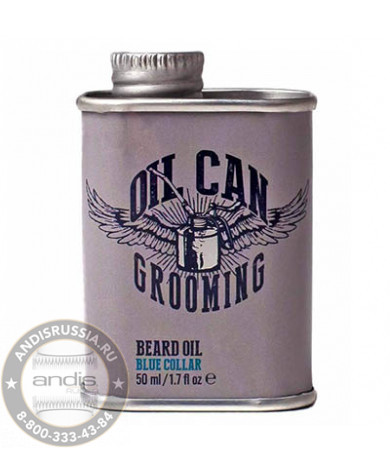 Масло для бороды с ароматом табака и мандарина Oil Can Grooming Blue Collar Beard Oil 50 мл OCG2