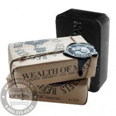 Мыло увлажняющее черное с маслом Оливы Rebels Refinery Black Organic Oil Bar Soap 90 гр RBFS