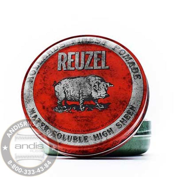Помада средней фиксации Красная Reuzel Water Soluble Red Pomade Pig 113 гр REU001