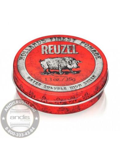 Помада средней фиксации Красная Reuzel Water Soluble Red Pomade Piglet 35 гр REU004