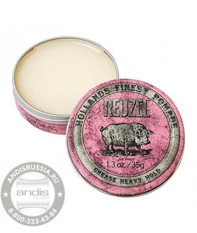 Помада сильной фиксации Розовая Reuzel Grease Heavy Hold Pink Pomade Piglet 35 гр REU008