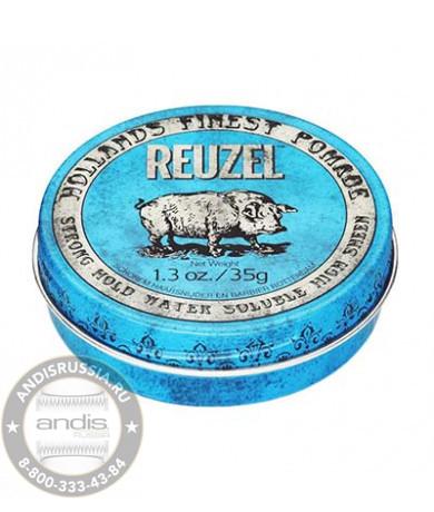Помада сильной фиксации Синяя Reuzel Water Soluble Strong Hold Blue Pomade Piglet 35 гр REU010