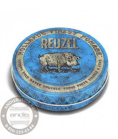 Набор помад Reuzel Water Soluble Strong Hold Blue Pomade 113 гр + 35 гр PIGGYBLUE