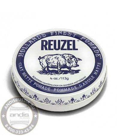 Помада для укладки средней фиксации Reuzel Clay Matte Pomade Pig 113 гр REU033