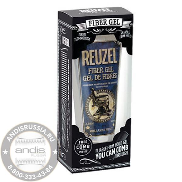 Набор Гель для укладки волос Reuzel Fiber Gel 100 мл + фирменная расческа REU0411