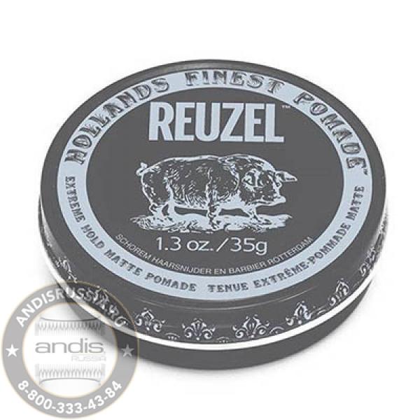 Помада матовая экстрасильной фиксации Reuzel Extreme Hold Matte Pomade Piglet 35 гр REU045