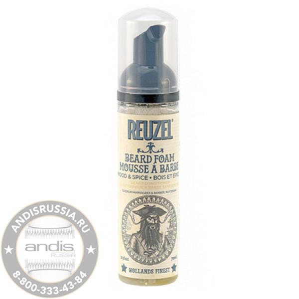 Кондиционер-пена для бороды Reuzel Beard Foam Wood & Spice 70 мл REU050