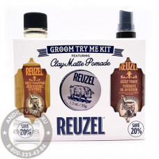 Набор для ухода за волосами Reuzel 3 предмета TryMe Kit Clay