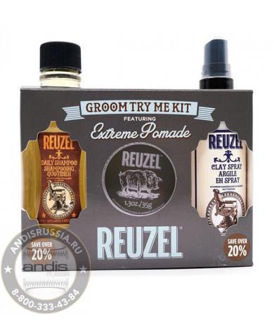 Набор для ухода за волосами Reuzel 3 предмета TryMe Kit Extreme
